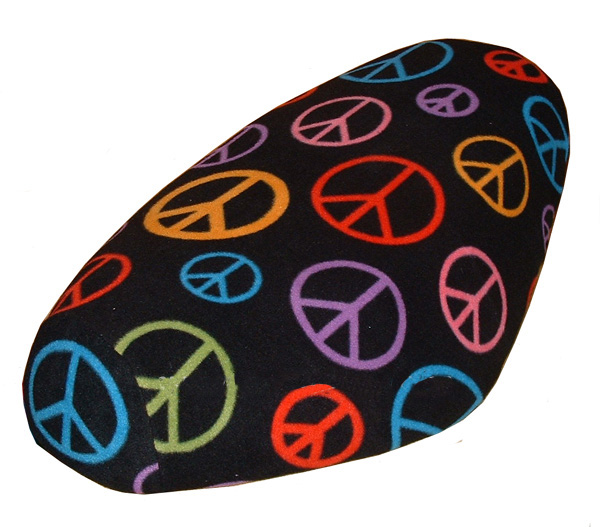 Peace Signs FLEECE scooter seat cover Genuine Buddy