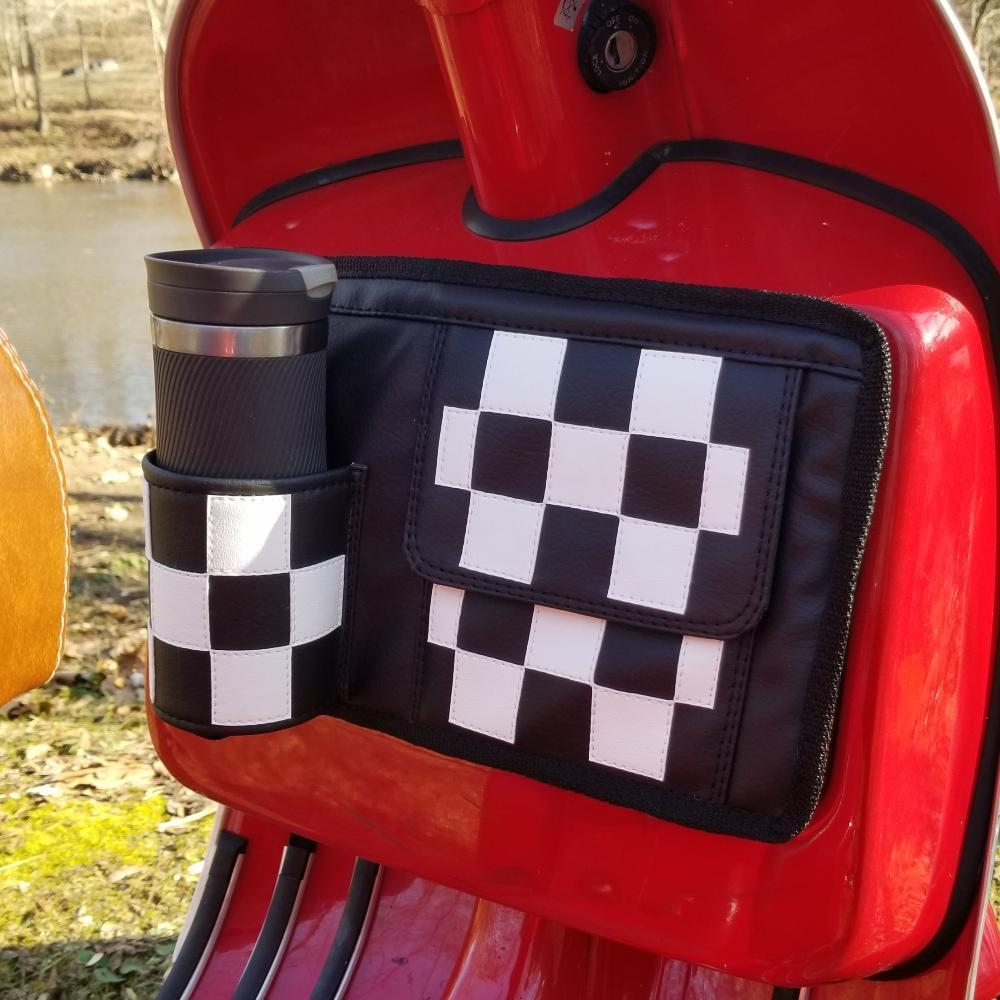 Checkers Flapjack Scooter Glove Box Bag Vespa Gifts Stella Kymco