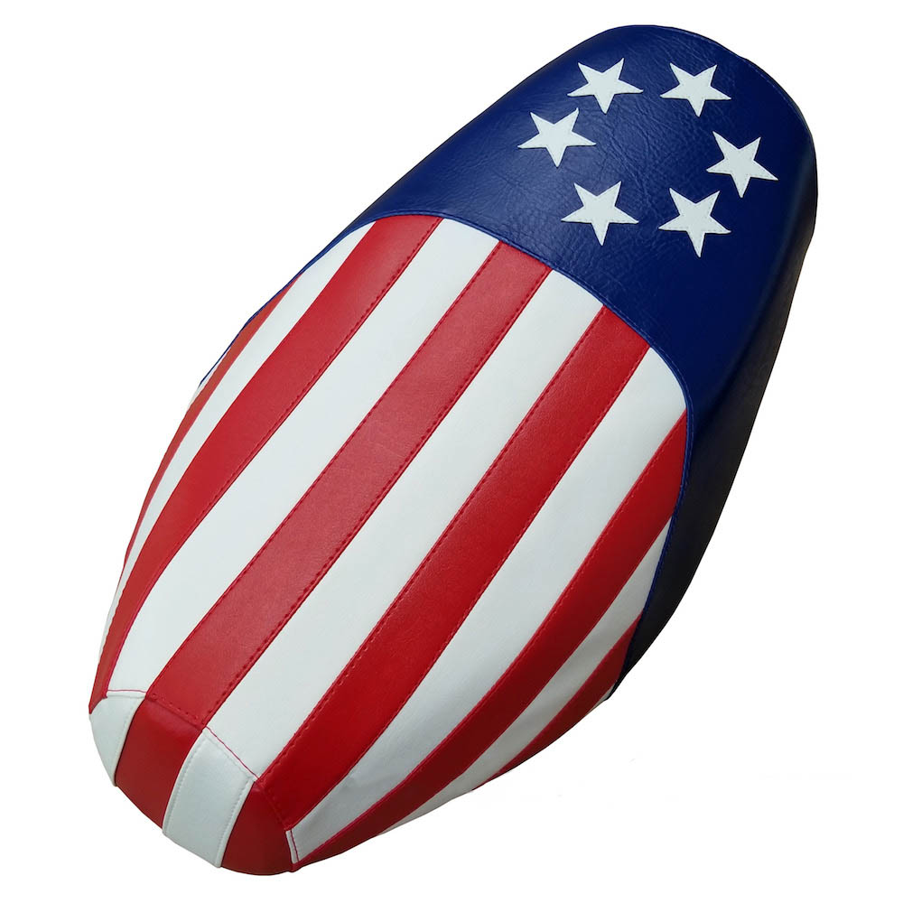 American Flag Scooter Seat Cover Genuine Buddy, Handmade
