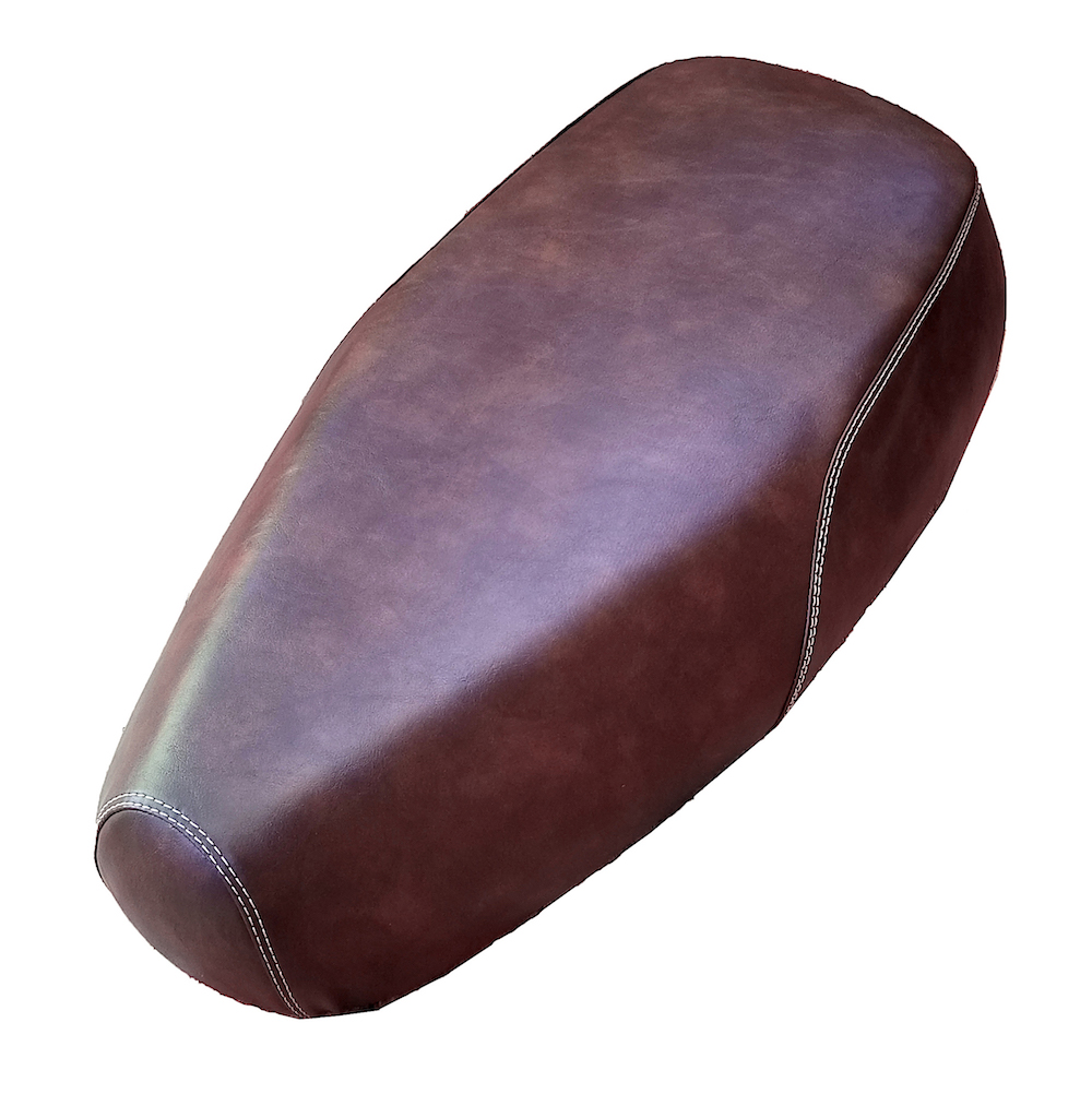 Buddy Kick Distressed Whiskey Brown Faux Leather Seat Cover