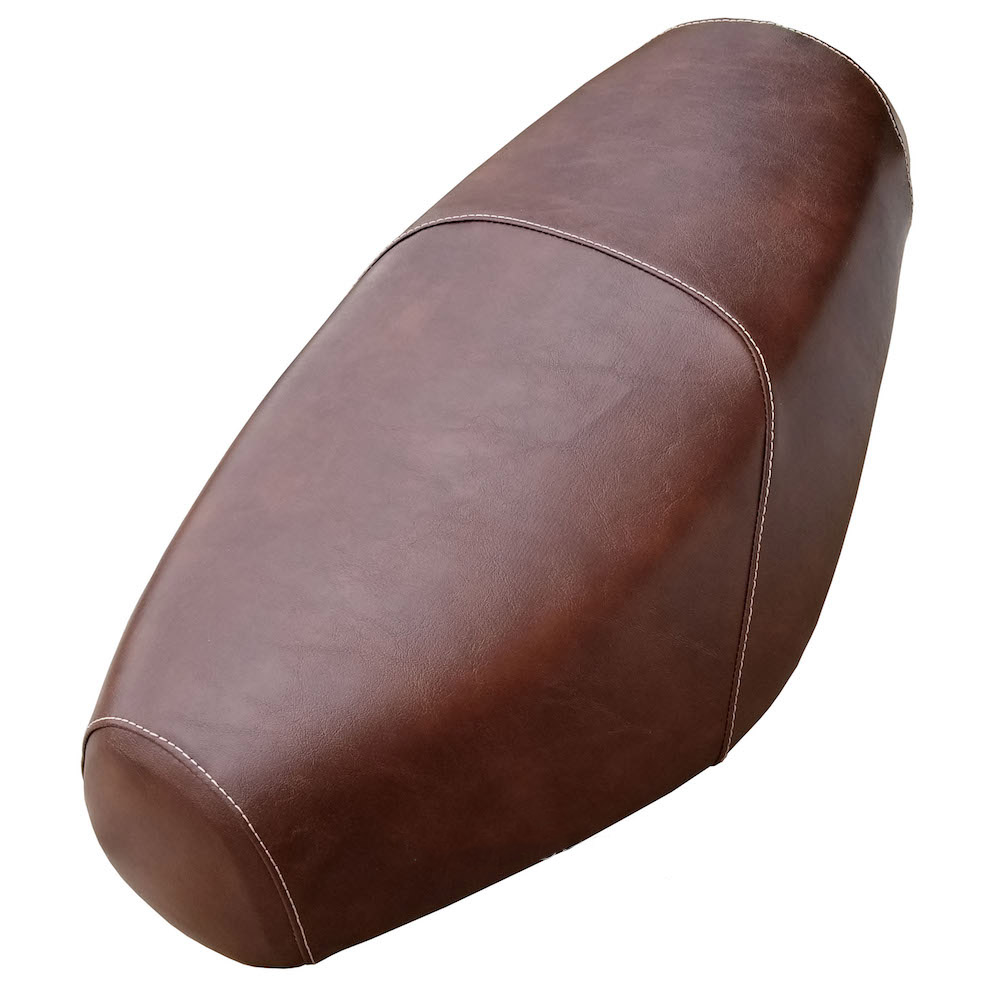 Distressed Faux Leather Brown Buddy Seat Cover Waterproof