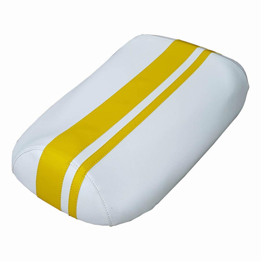 Honda Ruckus WHITE Racing Stripe Seat Cover - Waterproof