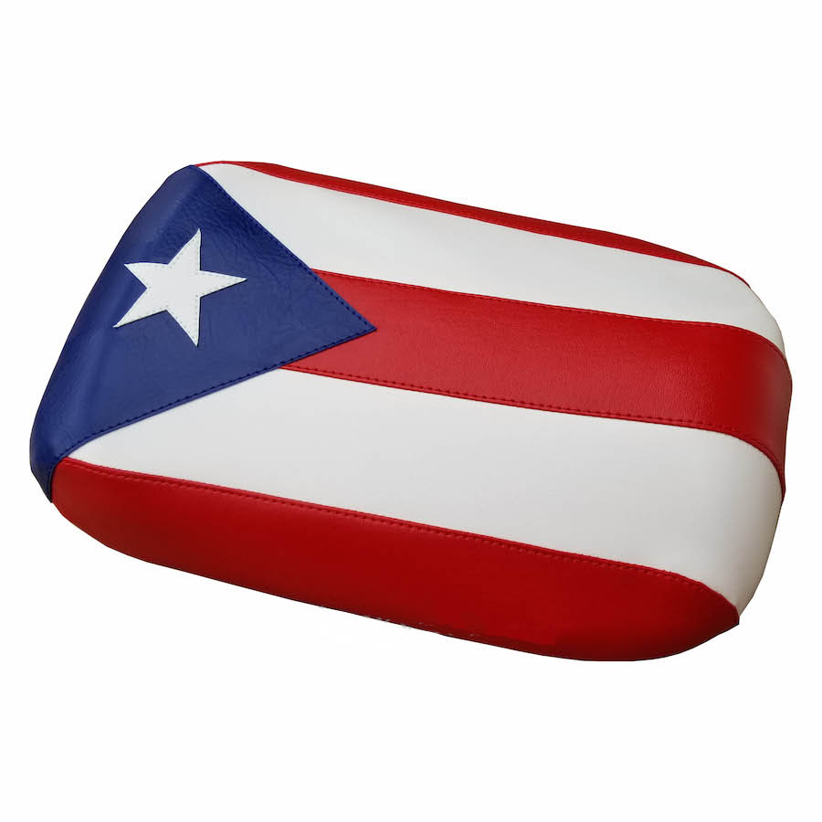 Puerto Rico Flag Maddog Seat Cover Boricua Bandera Padded Option
