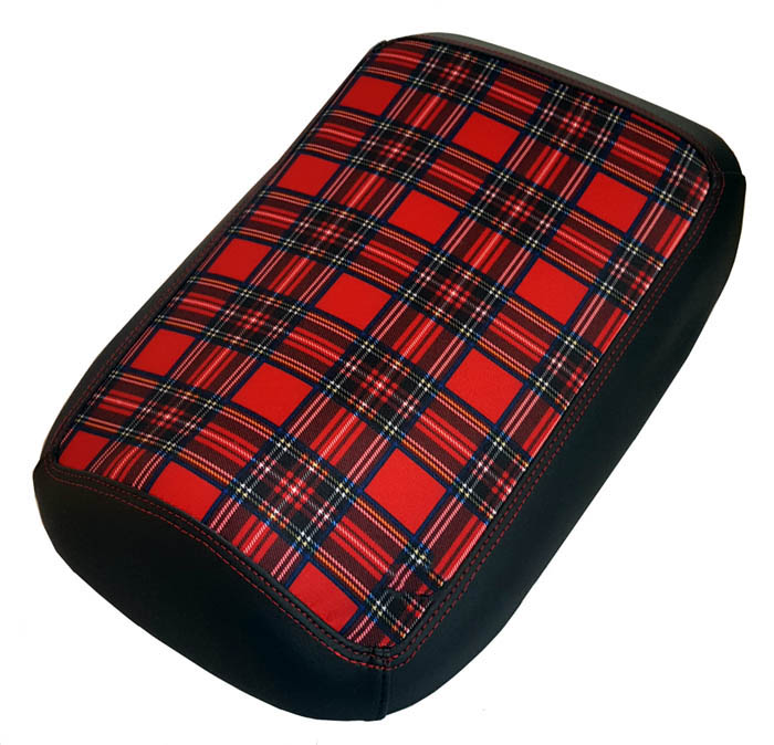 Maddog Seat Cover Red Tartan Scooter Seat Cover Chuckus 50 150