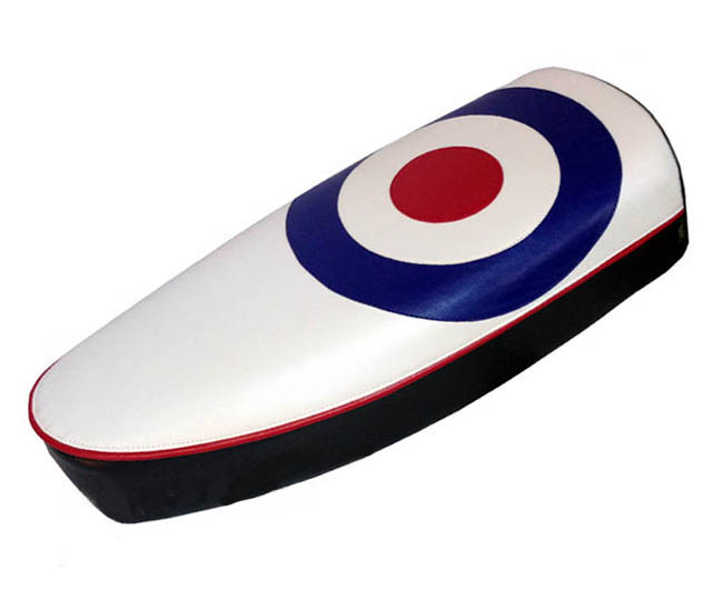 TOP LOOK! Mod Target RAF Roundel Scooter Seat Cover