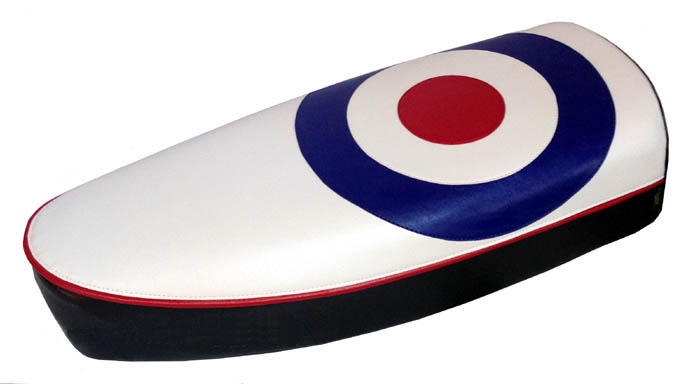 Vespa PX Mod Target RAF Roundel Scooter Seat Cover Modern Style