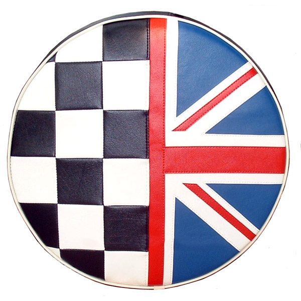 Union Jack Checkers British Flag Scooter Tire Covers Vespa Bajaj