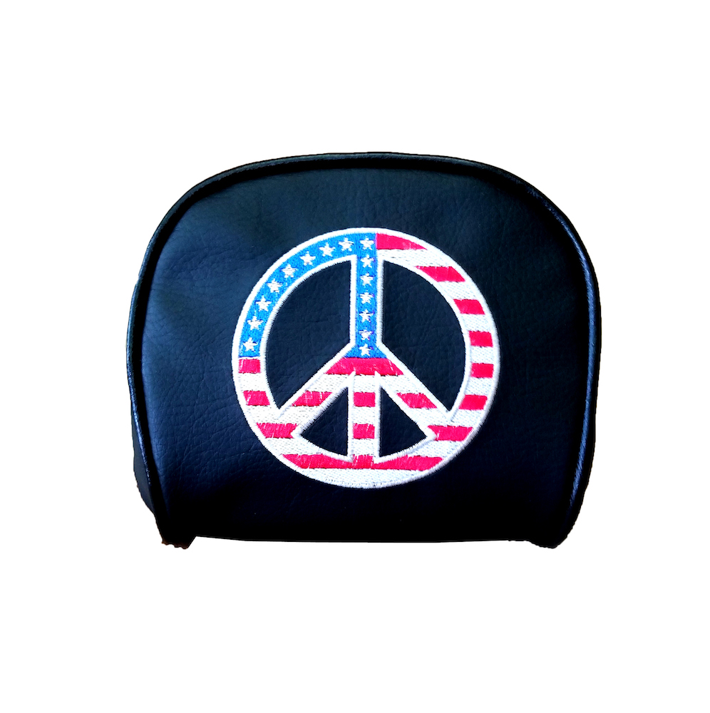 American Flag Peace Prima Scooter Backrest Pad Cover Vespa