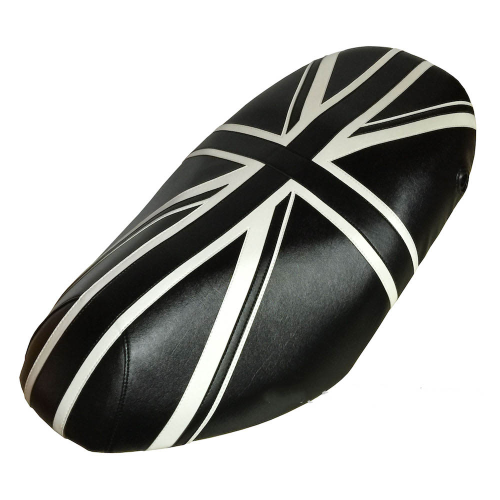 Piaggio Fly Black & White Union Jack Seat Cover 2005 - 2018