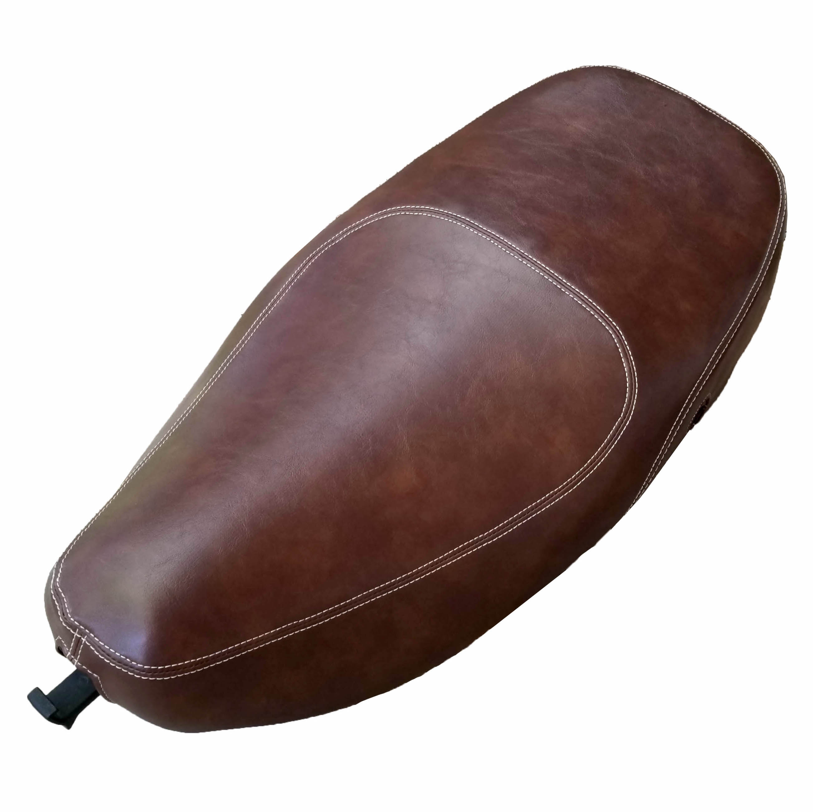 Vespa LX 50 150 Brown Whiskey Oval Cut Faux Leather Seat Cover
