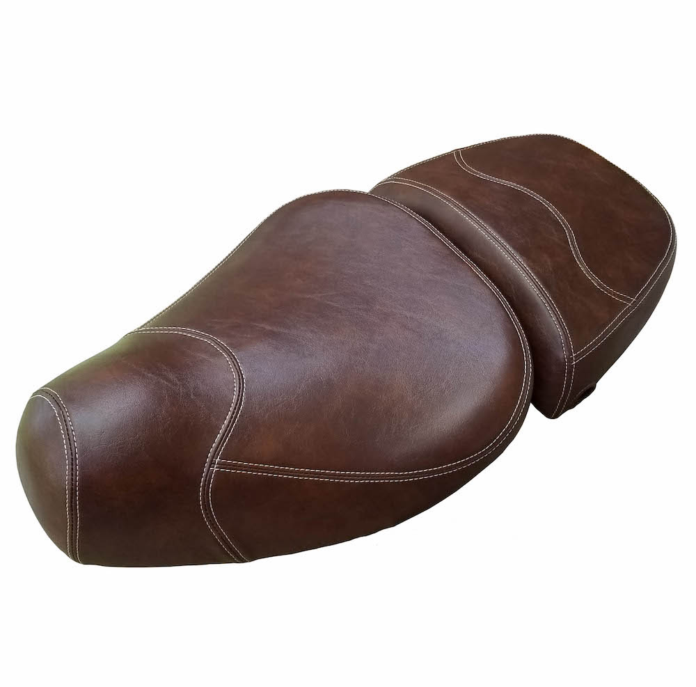 Leather Style Vespa LXV 50 125 150 Whiskey Seat Cover Handmade