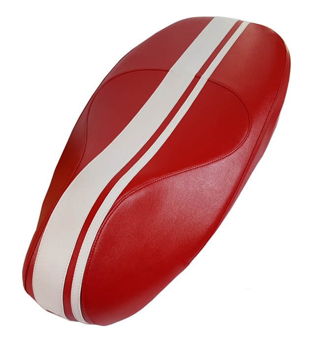 Vespa Primavera Sprint Red Dual Racing Stripe Scooter Seat Cover