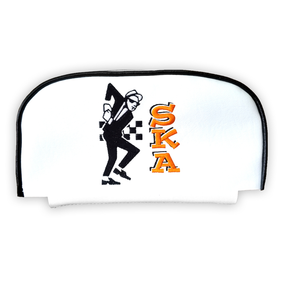 Ska Dancer Cuppini Scooter Back rest Pad Cover Vespa 2 Tone Man