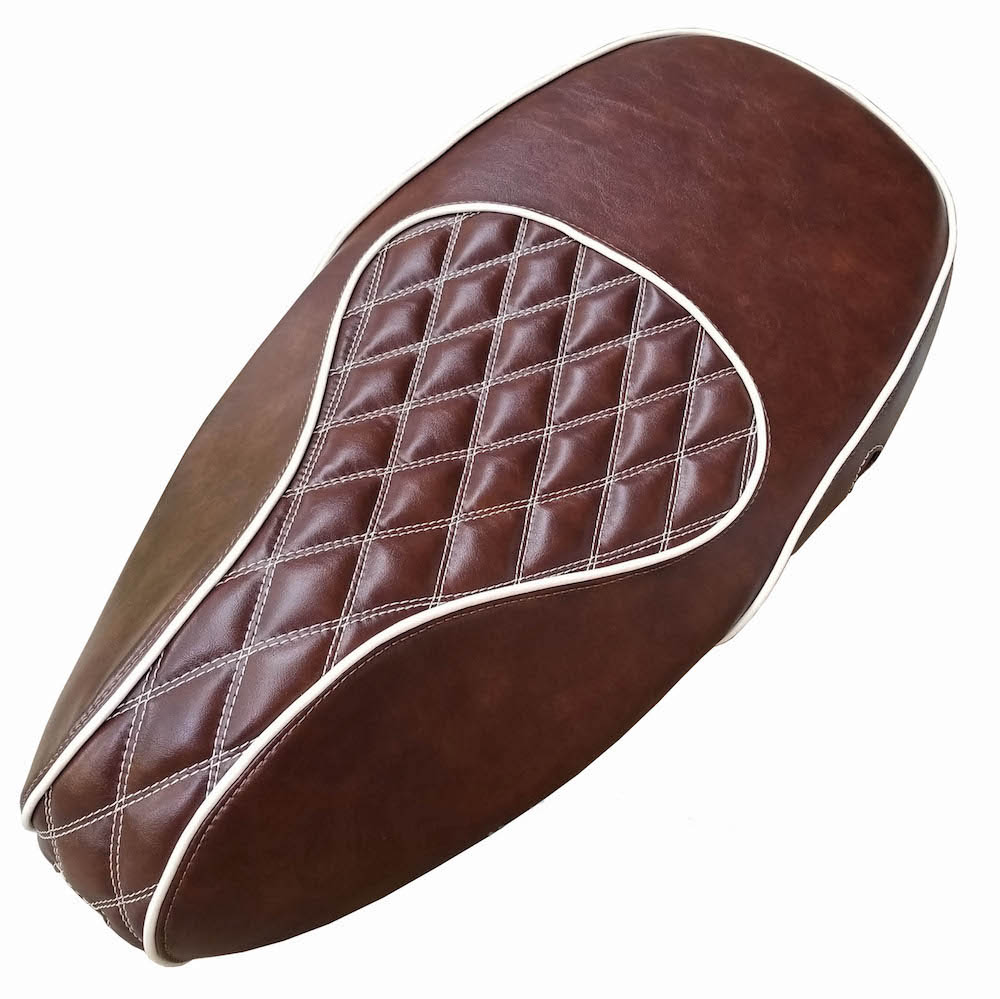 Vespa Sprint Primavera Double Diamond Whiskey Brown SEAT COVER