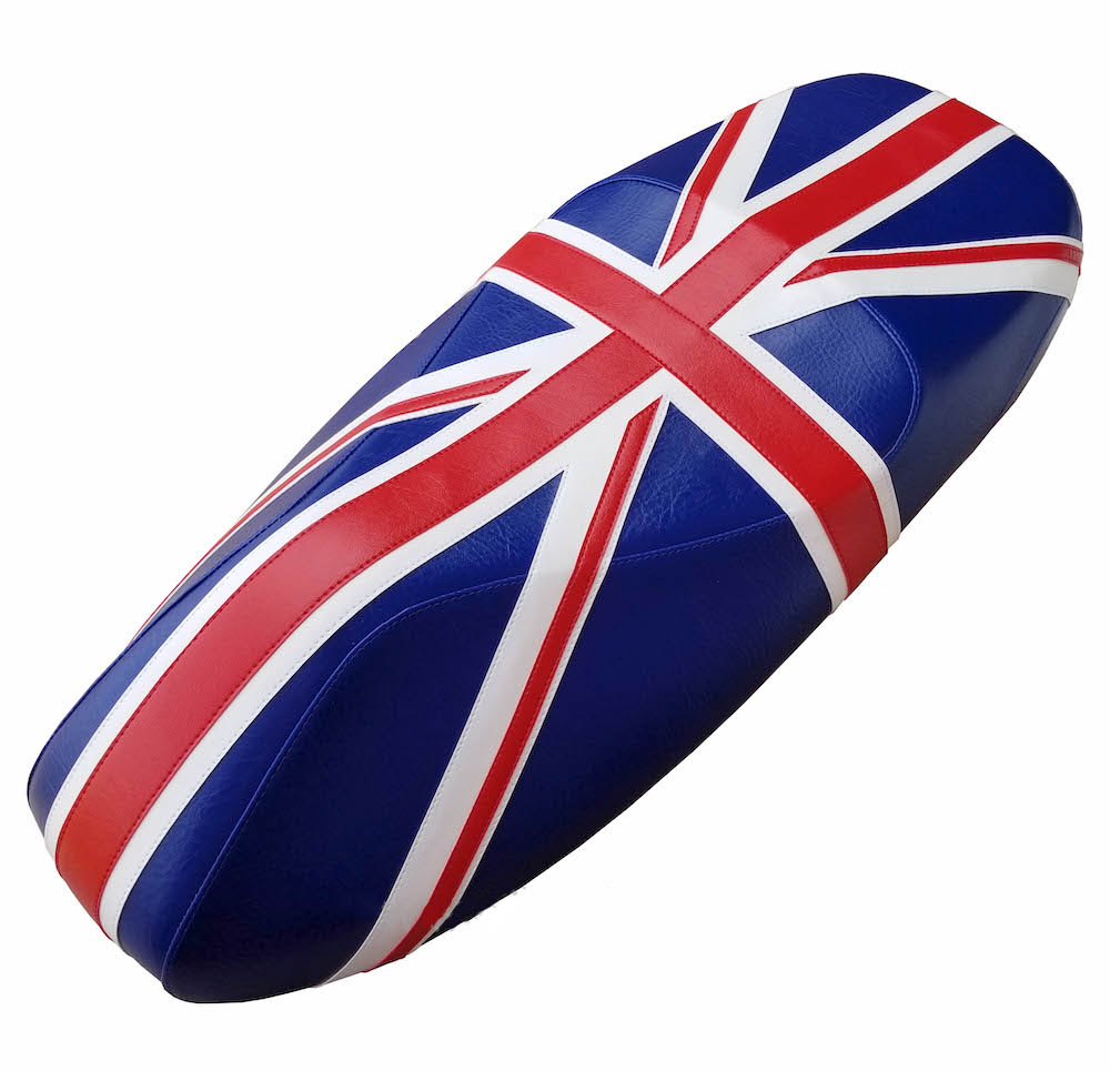 Union Jack Vespa GTS Scooter Seat Saddle Cover British Flag