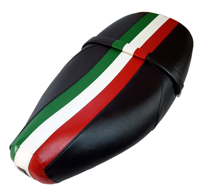 Italian Racing Stripe Vespa ET 2/ 4 Scooter Seat Cover