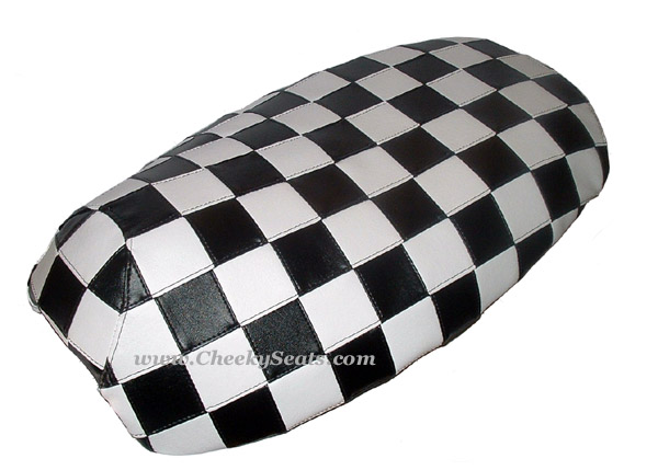 Yamaha Vino 125 Scooter Seat Cover, Black & White Checkers