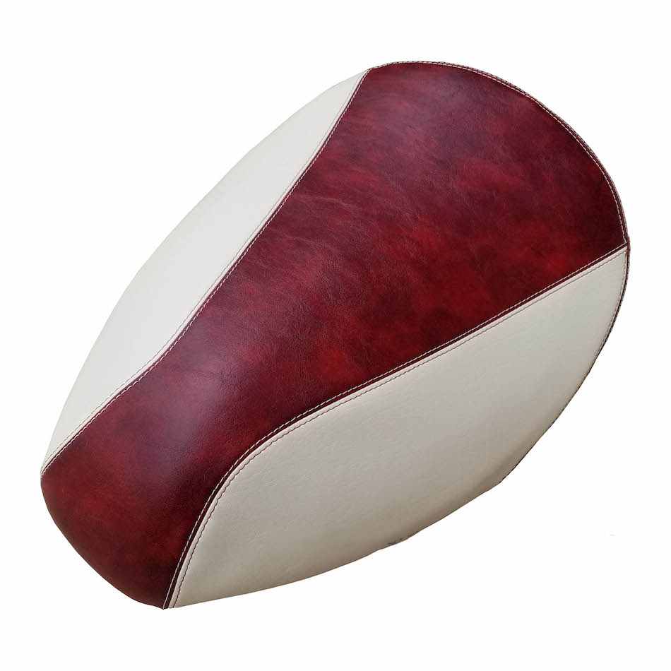 Yamaha Vino 49 / 50 Seat Cover Oxblood Two Tone French Seams
