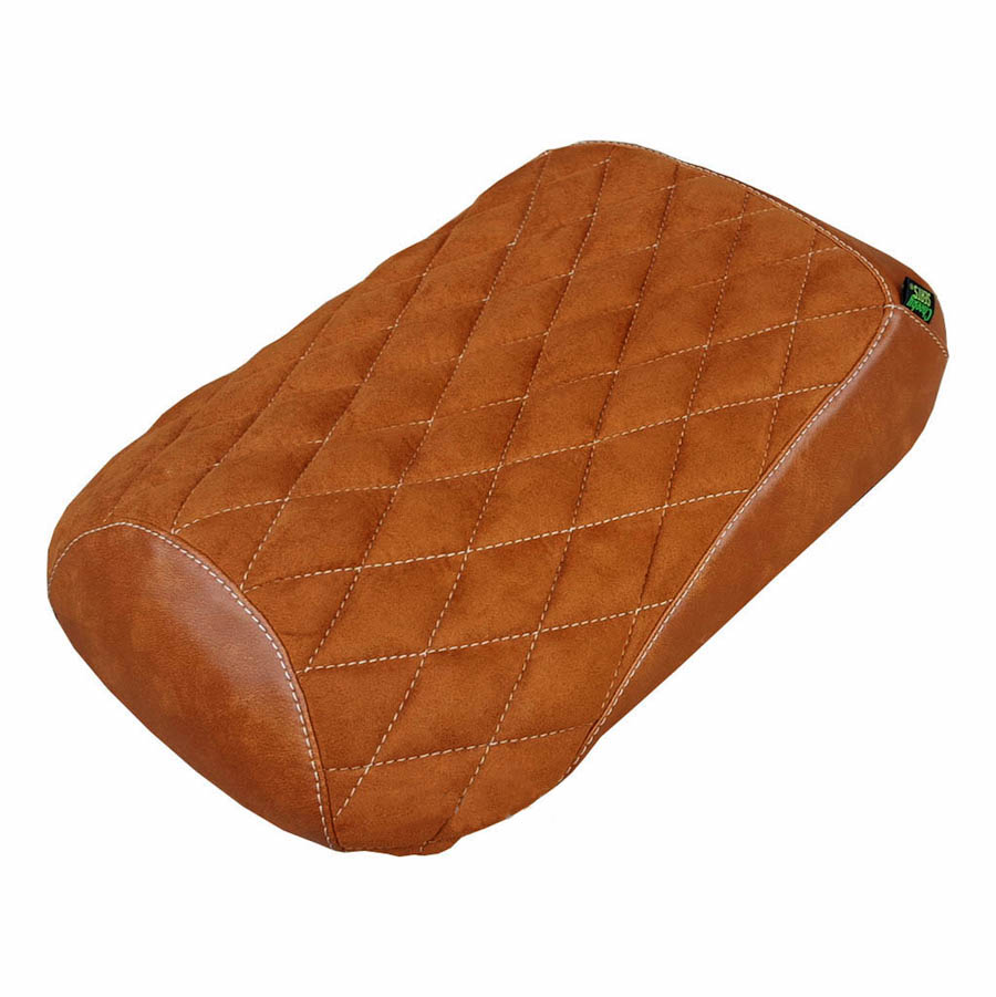 Honda Ruckus Brown Suede Diamond Stitch Scooter Seat Cover