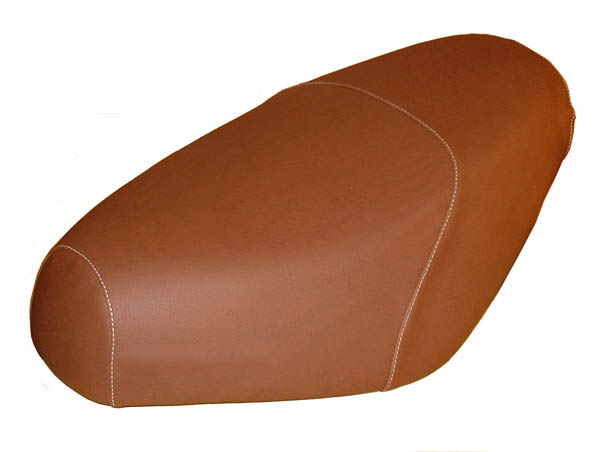 Cinnamon Brown Faux Leather Premium Buddy Seat Cover Waterproof