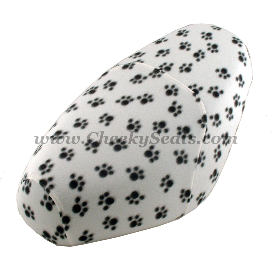 Dog Paws White Scooter Seat Cover Genuine Buddy