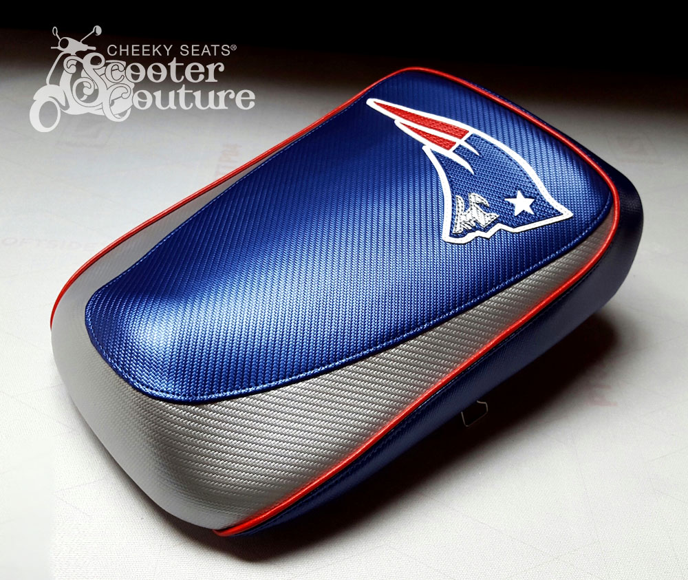 Outstanding Ruckus New England Patriots Cheeky Seats Scooter Seat Covers Frankydiablos Diy Chair Ideas Frankydiabloscom