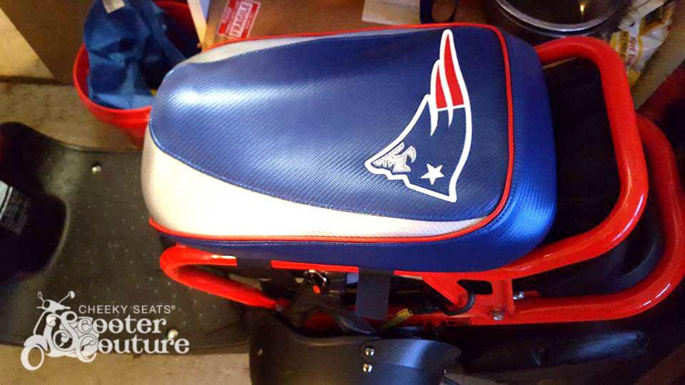 Astounding Ruckus New England Patriots Cheeky Seats Scooter Seat Covers Frankydiablos Diy Chair Ideas Frankydiabloscom