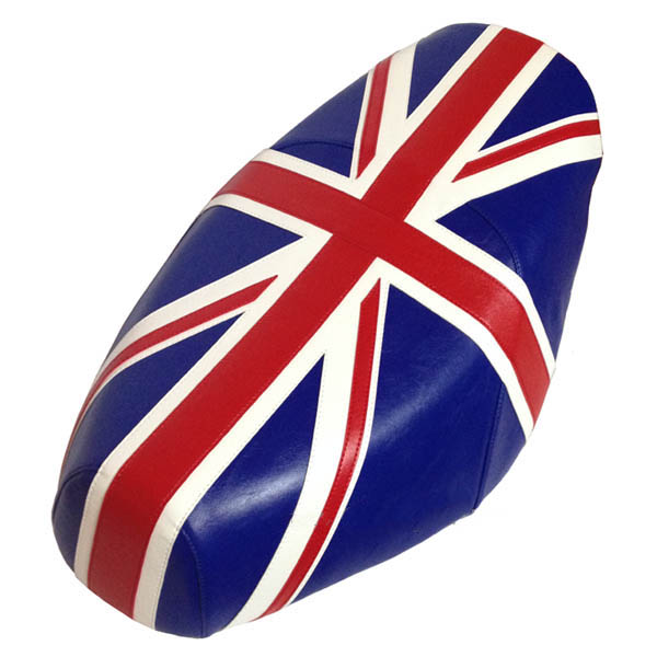 British Flag Union Jack Faux Leather Premium Buddy Seat Cover