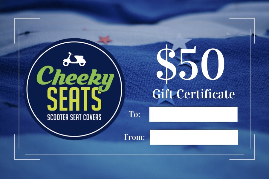 Cheeky Seats Gift Certificate $50.00 Great scooter gift idea!