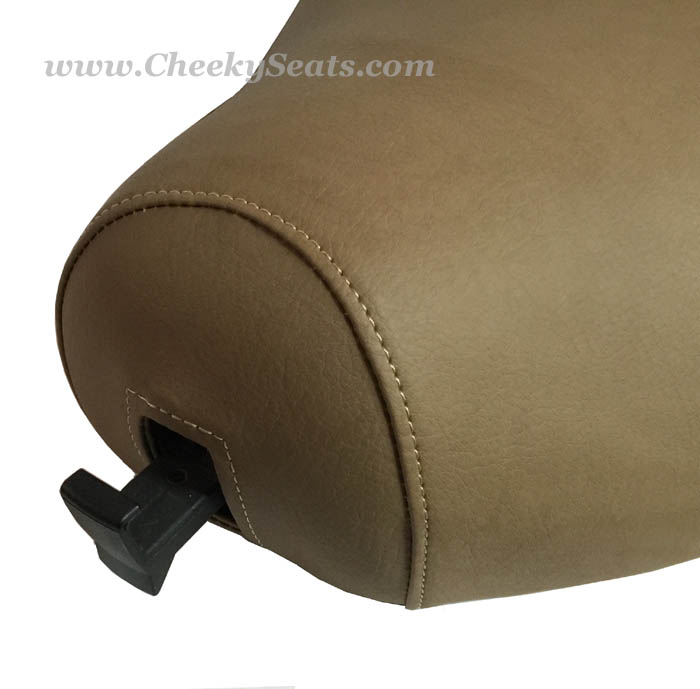 Cafe Tan Matte Faux Leather Vespa LX Scooter Seat Cover