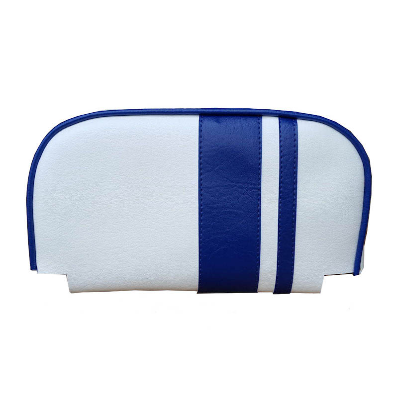 Cuppini Backrest Pad Cover White Blue Racing Stripes Back rest