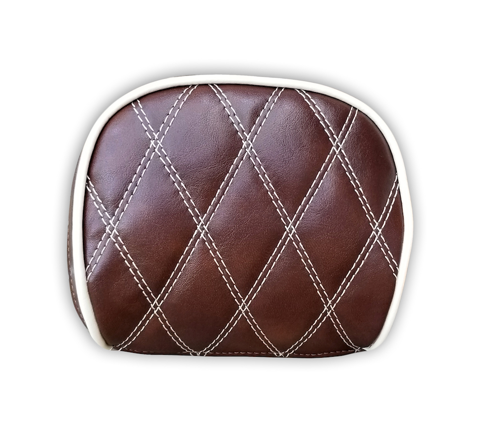 Prima Backrest Pad Cover Whiskey Diamond Stitch Vespa Back rest