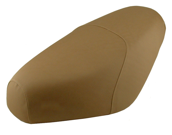 Tan Cafe Genuine Buddy Scooter Seat Cover Premium Faux Leather