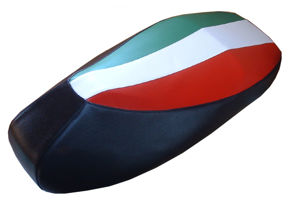 Full Italian Flag Vespa Scooter Seat Cover GTS 250 300