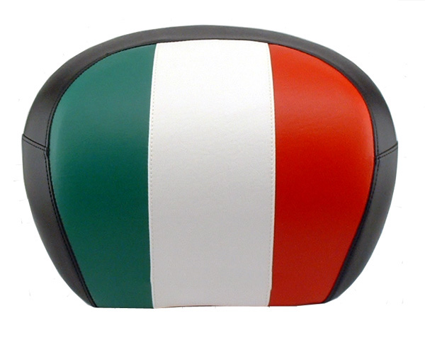 Vespa GT Scooter Top Case Back rest cover, Full Italian Flag