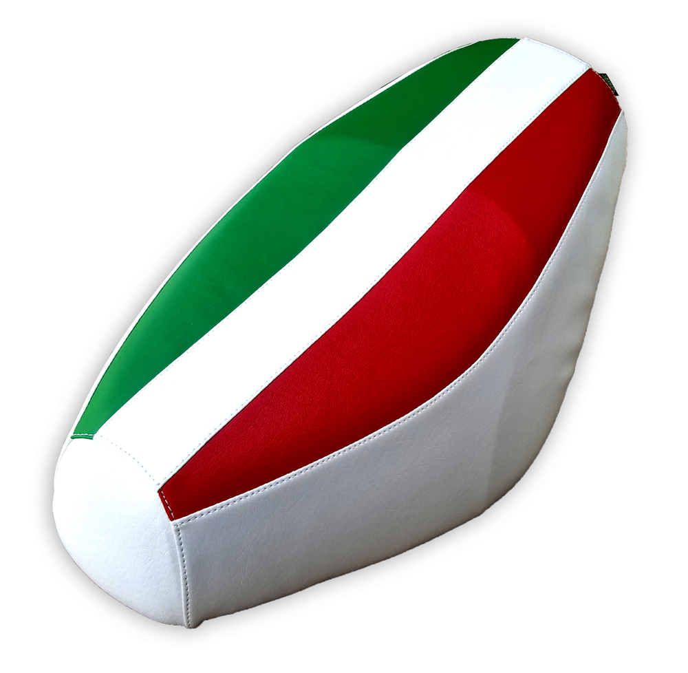 Italian Flag White Scooter Seat Cover Genuine Buddy Waterproof