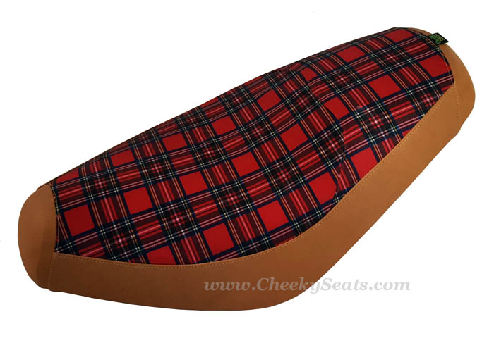 Tartan Plaid Genuine Buddy Scooter Seat Cover Waterproof