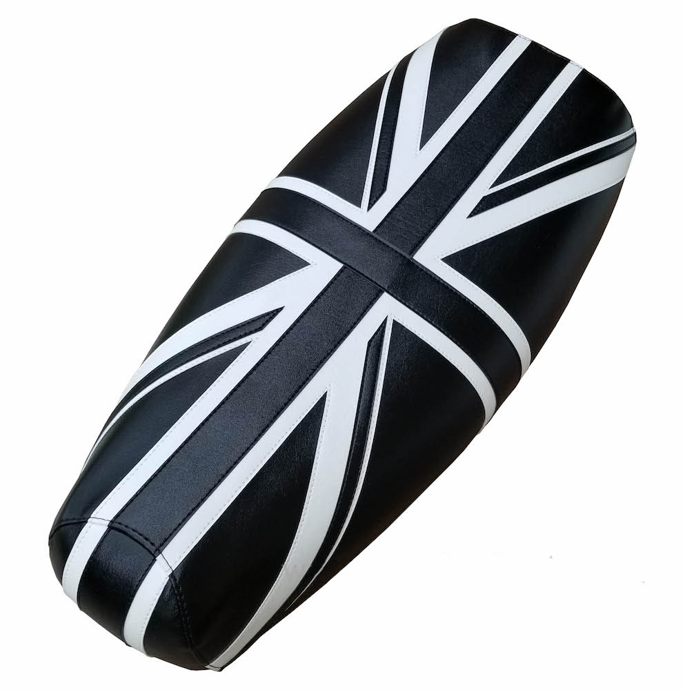 Black & White Union Jack British Flag Genuine Stella Seat Cover