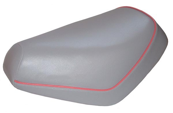Honda Elite 50 Scooter Seat Cover Waterproof Grey w/ Pink Piping