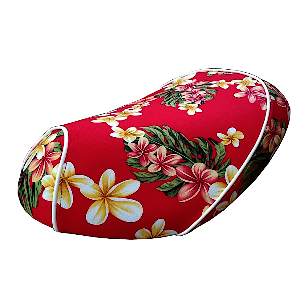 Cheeky seats prints seat covers cheeky seats scooter seat covers honda metropolitan hawaiian red flowers floral hawaii seat cover izmirmasajfo