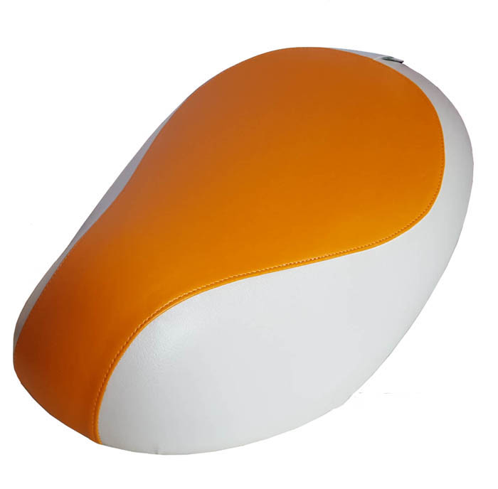 Tangerine and Cream Orange Honda Metropolitan Scooter Seat Cover
