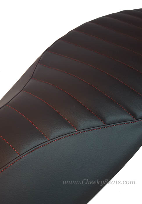 Honda PCX PADDED Scooter Seat Cover Black Faux Leather 2010-13