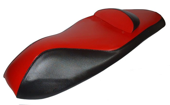 Honda PCX Red and Black Carbon Fiber Seat Cover 2010-13