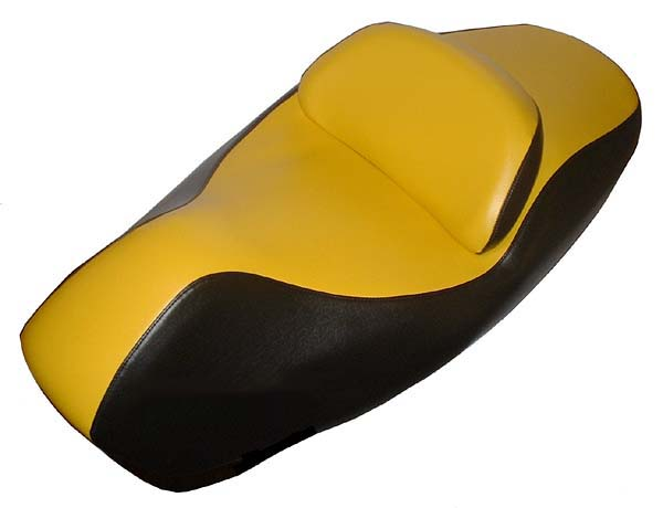 Honda Reflex 250 Scooter Seat Cover Yellow & Black 2001-07