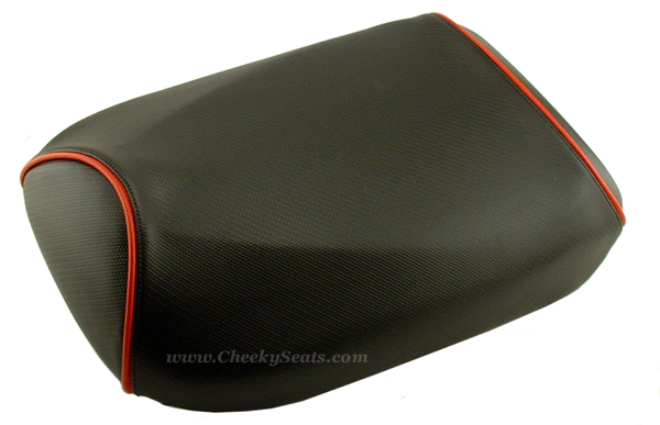Honda Ruckus Carbon Fiber Scooter Seat Cover Black or Red Piping