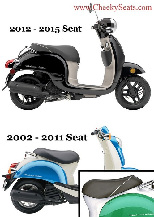 Honda Metropolitan CH50 Distressed with piping SEAT COVER