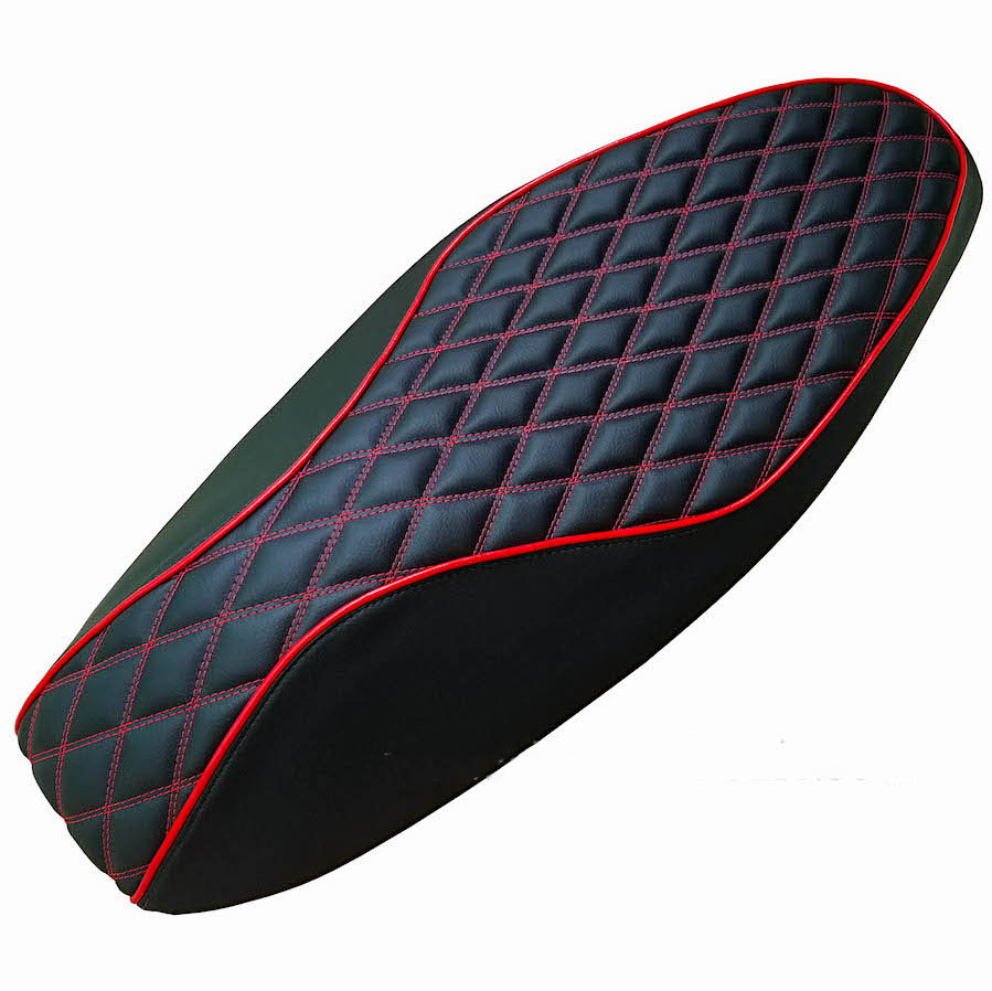 Double Diamond Seat Cover Honda PCX 2010-13 Black Hand Tailored