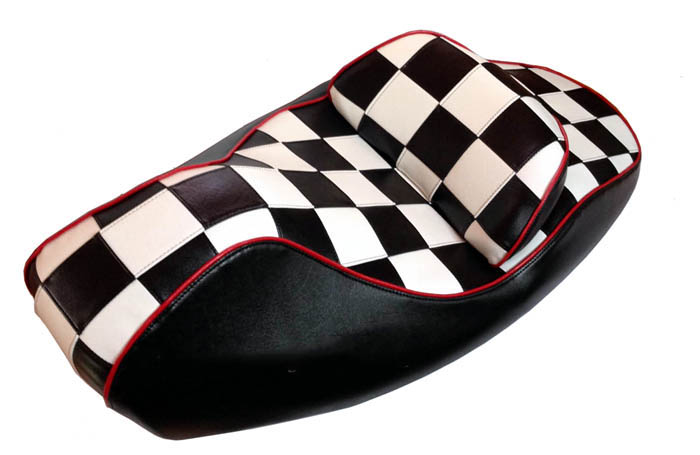 Honda Reflex Scooter Seat Cover Black and White Checkers