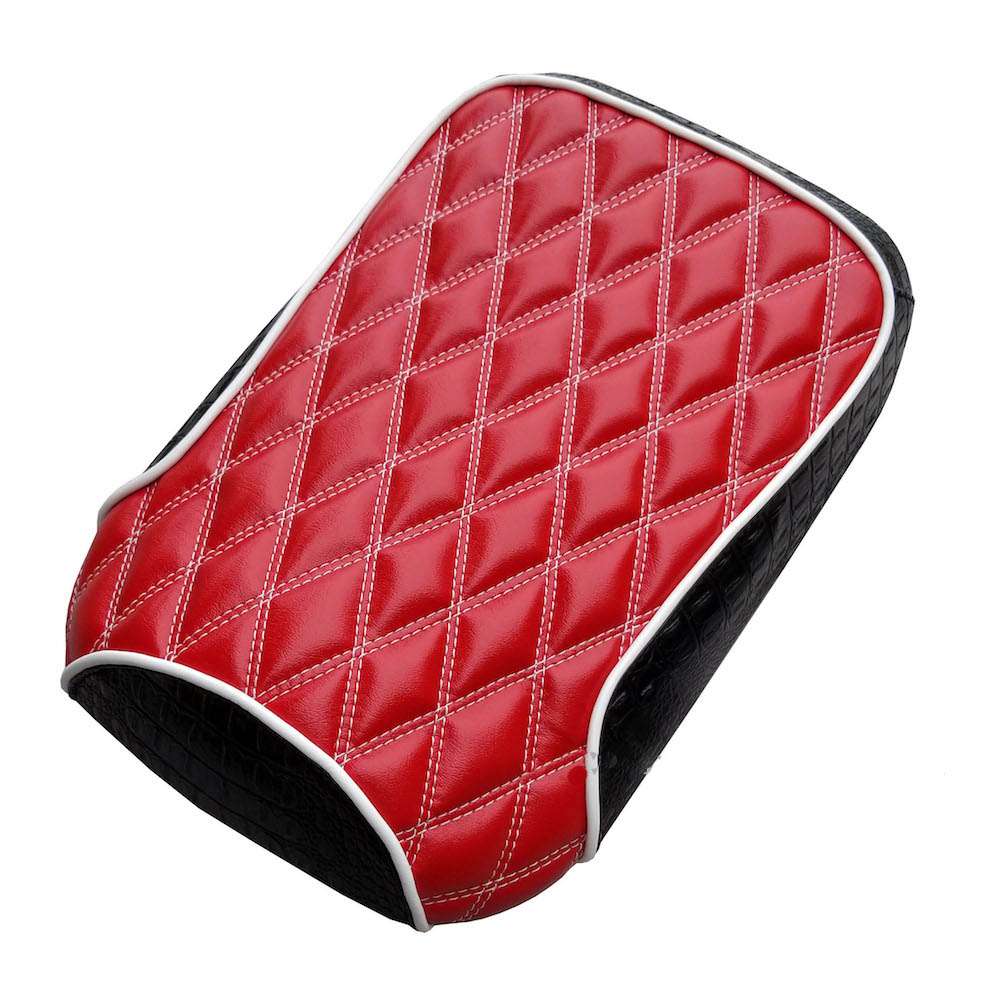 Honda Ruckus Red Double Diamond Stitch Seat Cover Customizable