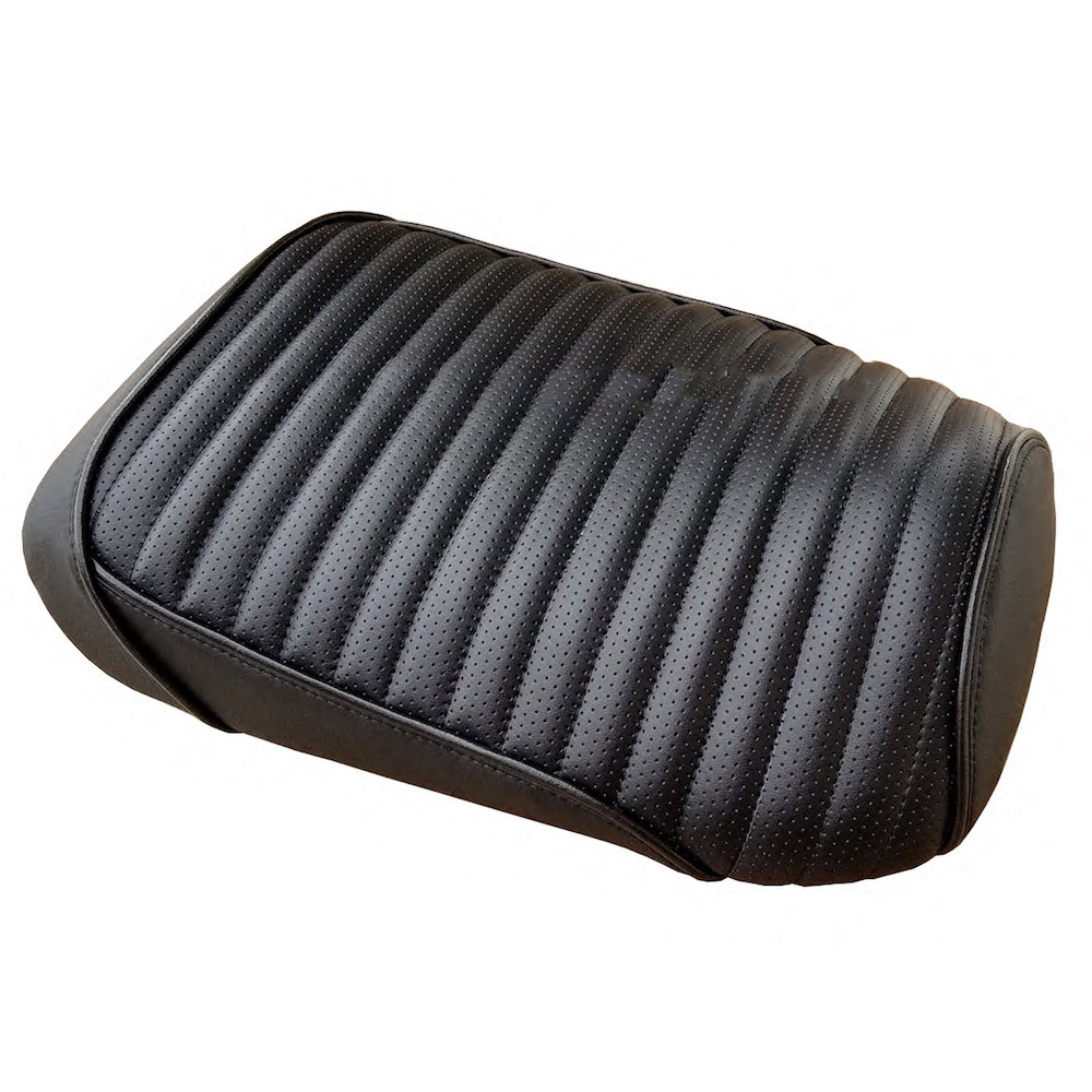 Honda Ruckus Black Pleated Perf Tuck and Roll Style Seat Cover
